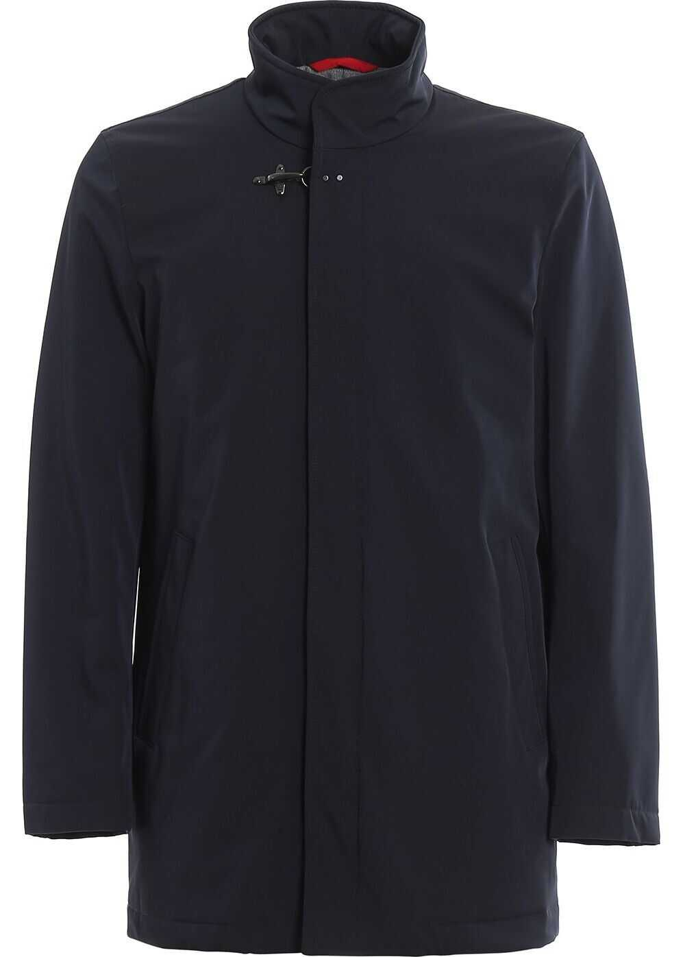 Fay Polyester Coat BLUE