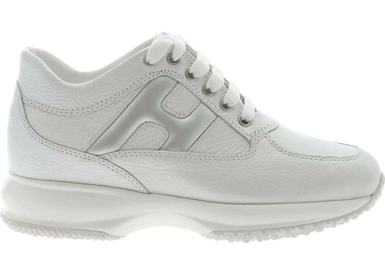 Hogan Interactive Sneakers In Pearly White White