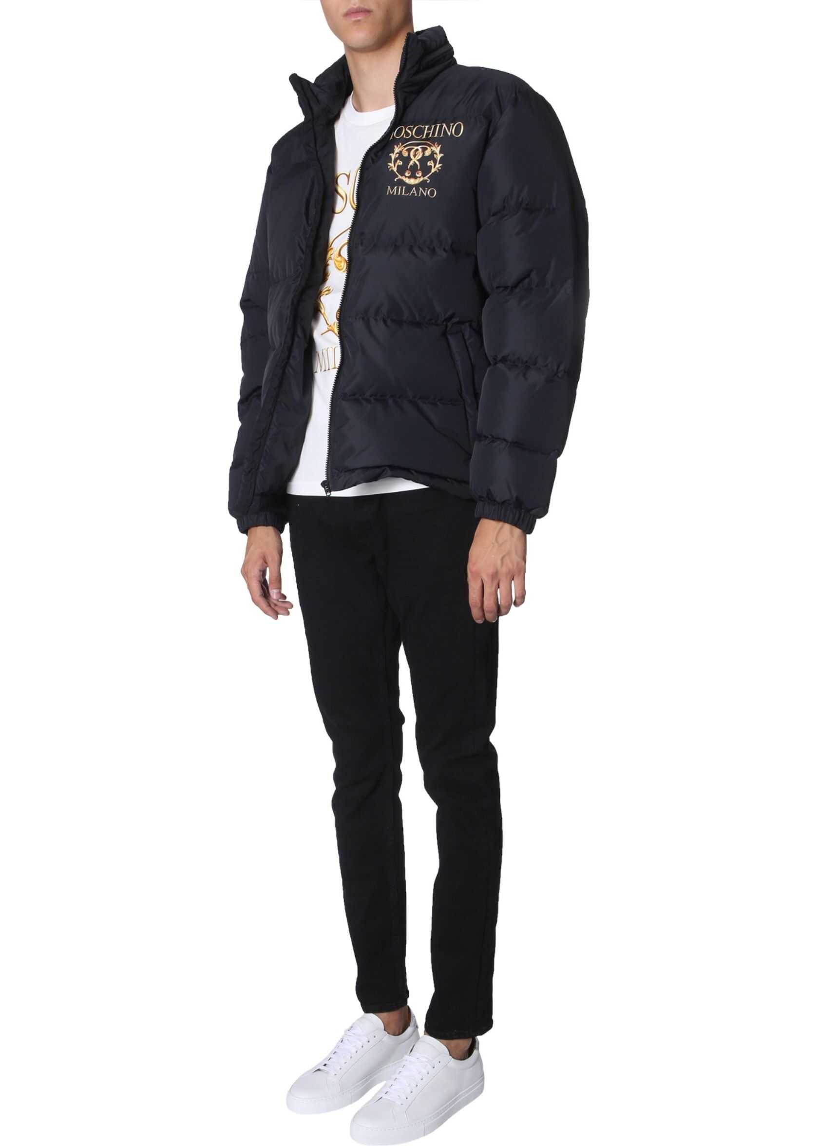 Moschino Short Down Jacket BLACK