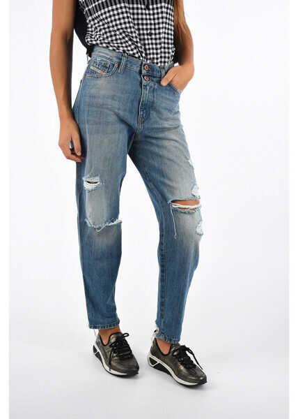 מושג חדש סיטונות באינטרנט מוצרים חמים Blugi drepti Diesel 15cm Regular Fit ALYS Jeans L32 BLUE Femei ...