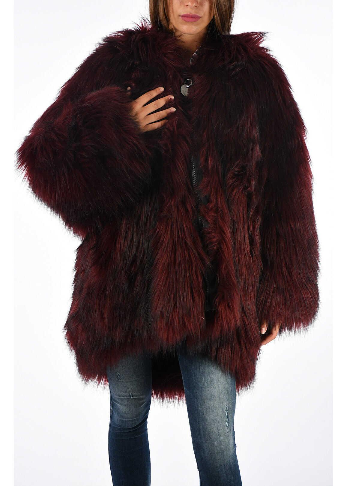 WISKE Faux Fur Jacket Reversible