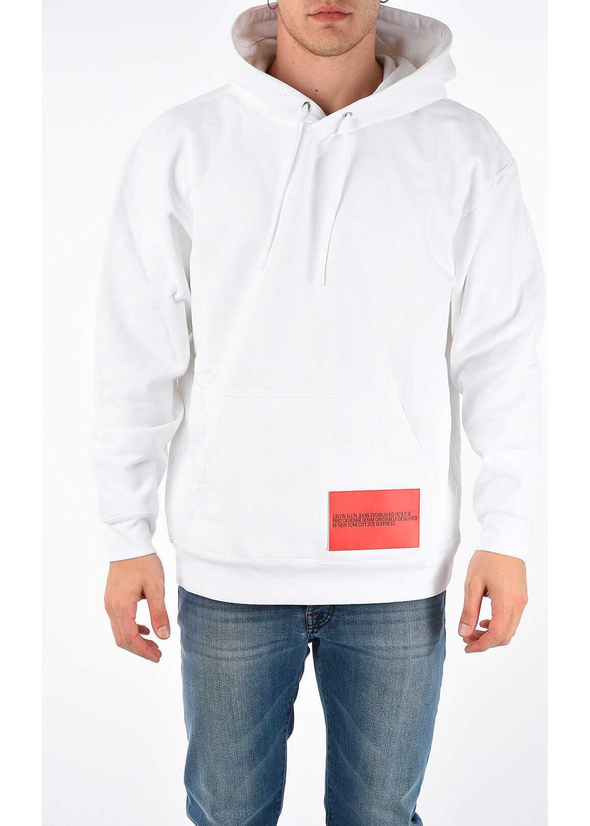 Calvin Klein JEANS EST.1978 Hoodie Sweatshirt WHITE