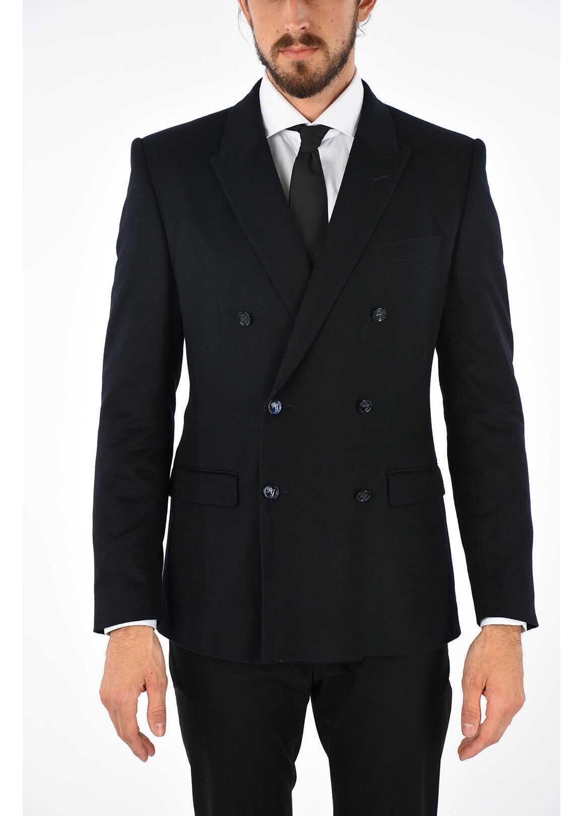 Dolce & Gabbana Silk and Cashmere Blazer BLUE