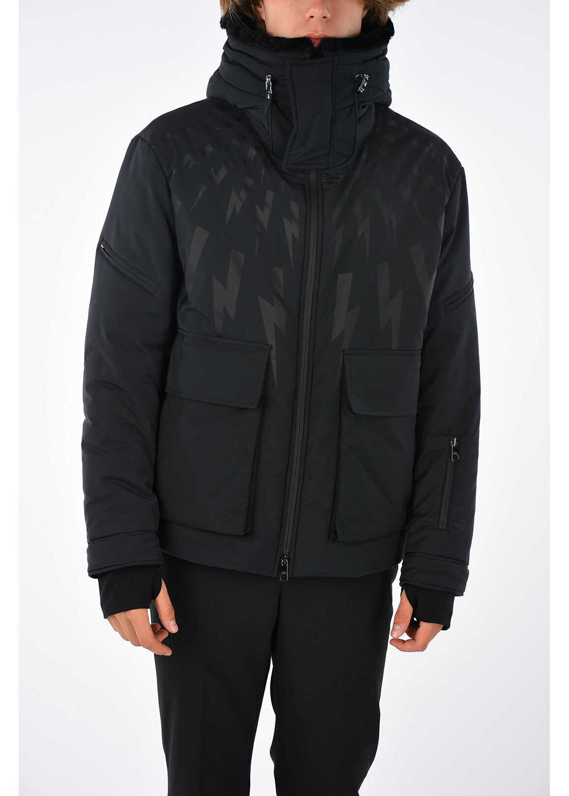 Neil Barrett Thunder Printed Jacket BLACK