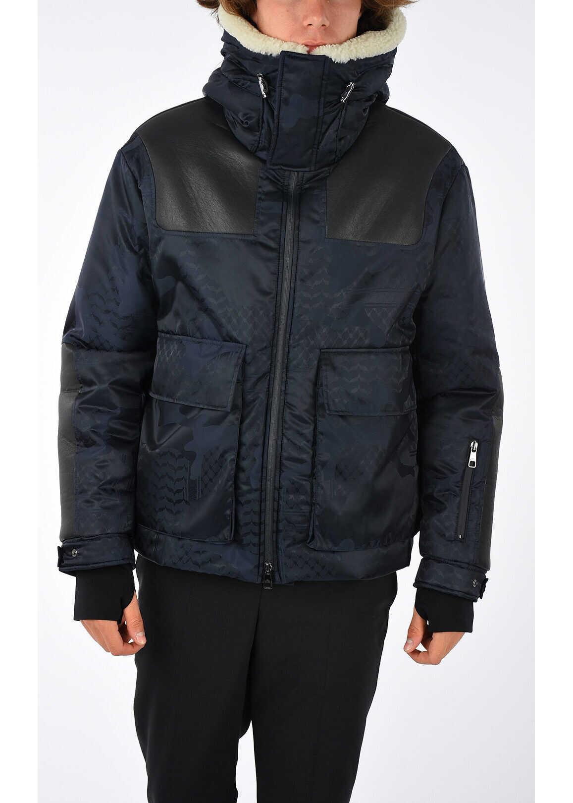 Neil Barrett Nylon Camouflage Jacket BLUE
