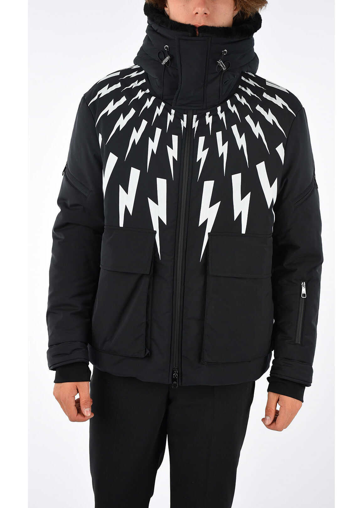 Neil Barrett Thunder Printed Jacket DARK GRAY