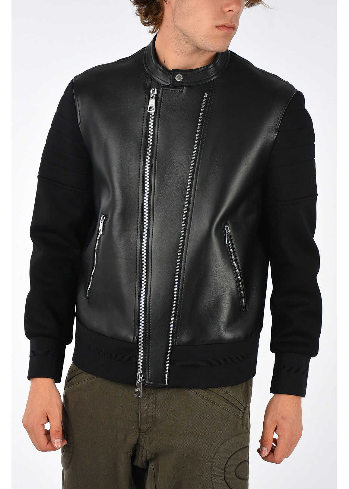 Neil Barrett Leather Jacket BLACK