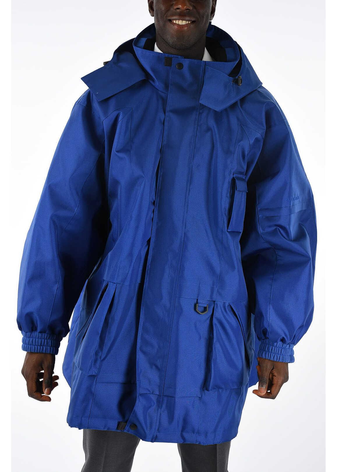 Nylon Hooded Windbreaker Jacket