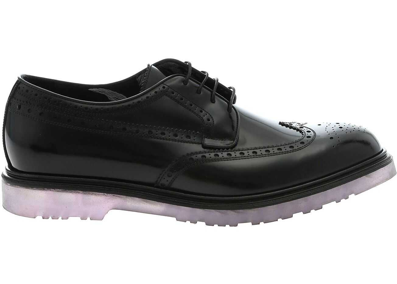 Paul Smith Crispin Derby Shoes In Black Black