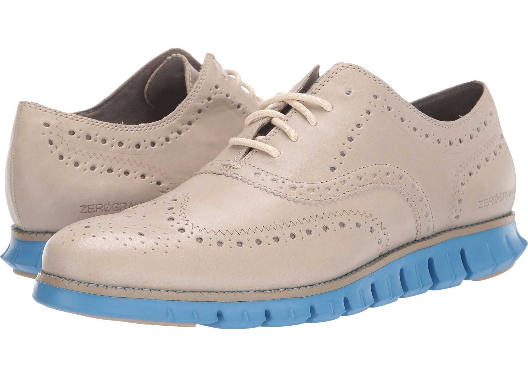 Cole Haan Zerogrand Wing Tip Oxford Hawthorn Leather/Brazilian Sand/Pacific Coast