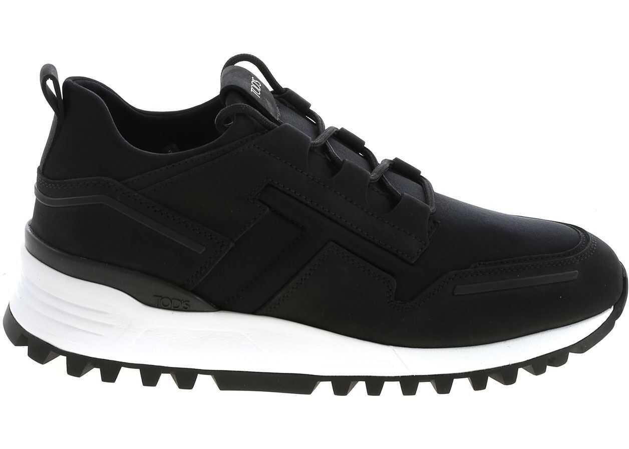TOD'S Scuba Effect Black Sneakers Black