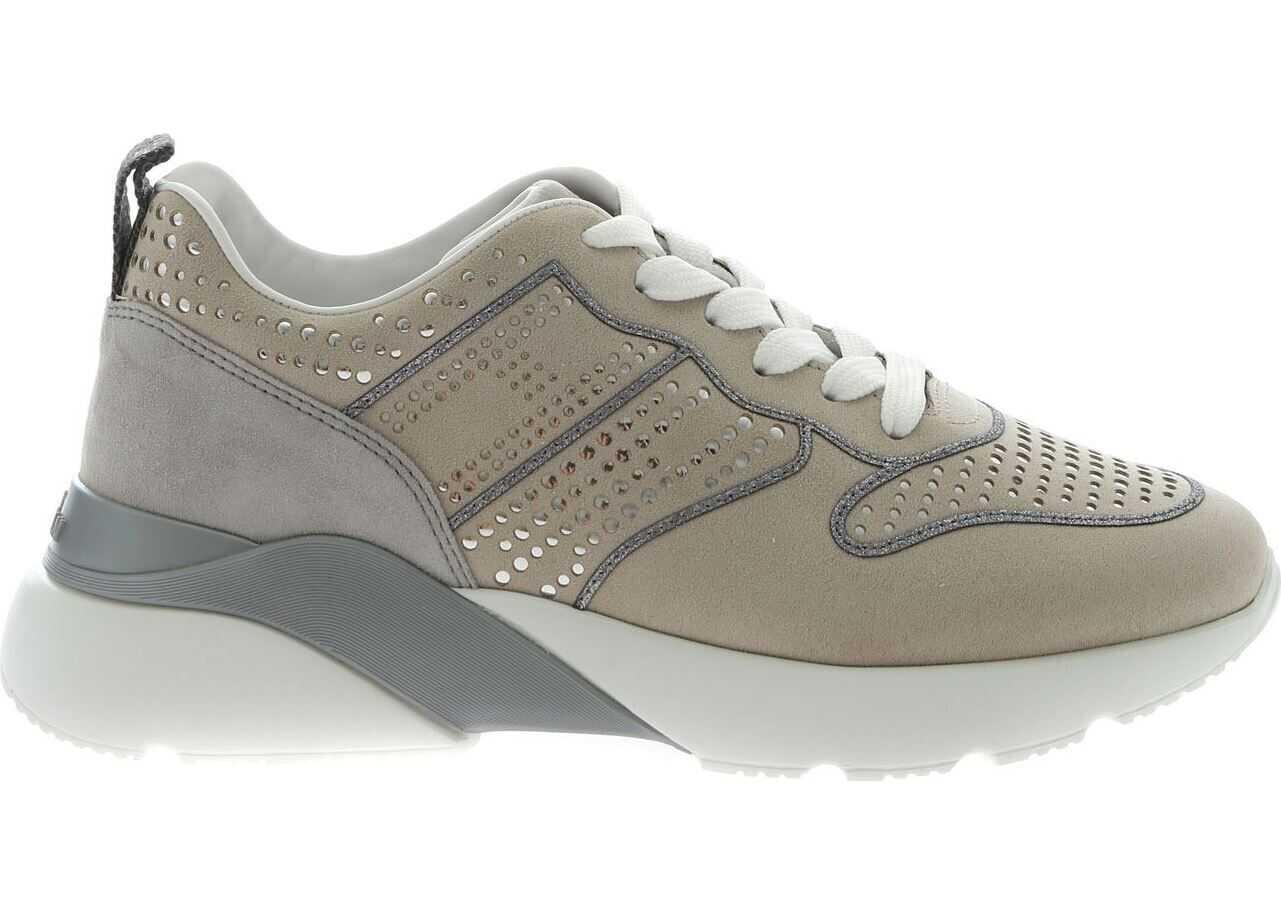 Hogan Active One Sneakers In Beige And Grey Beige