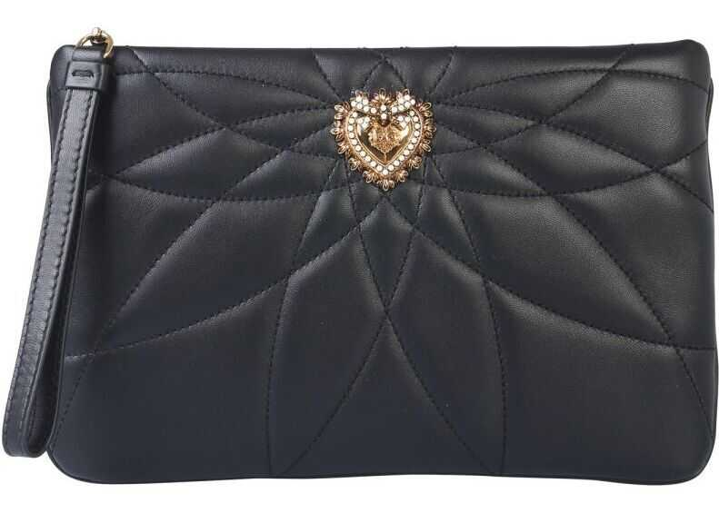 Dolce & Gabbana Leather Clutch BLACK