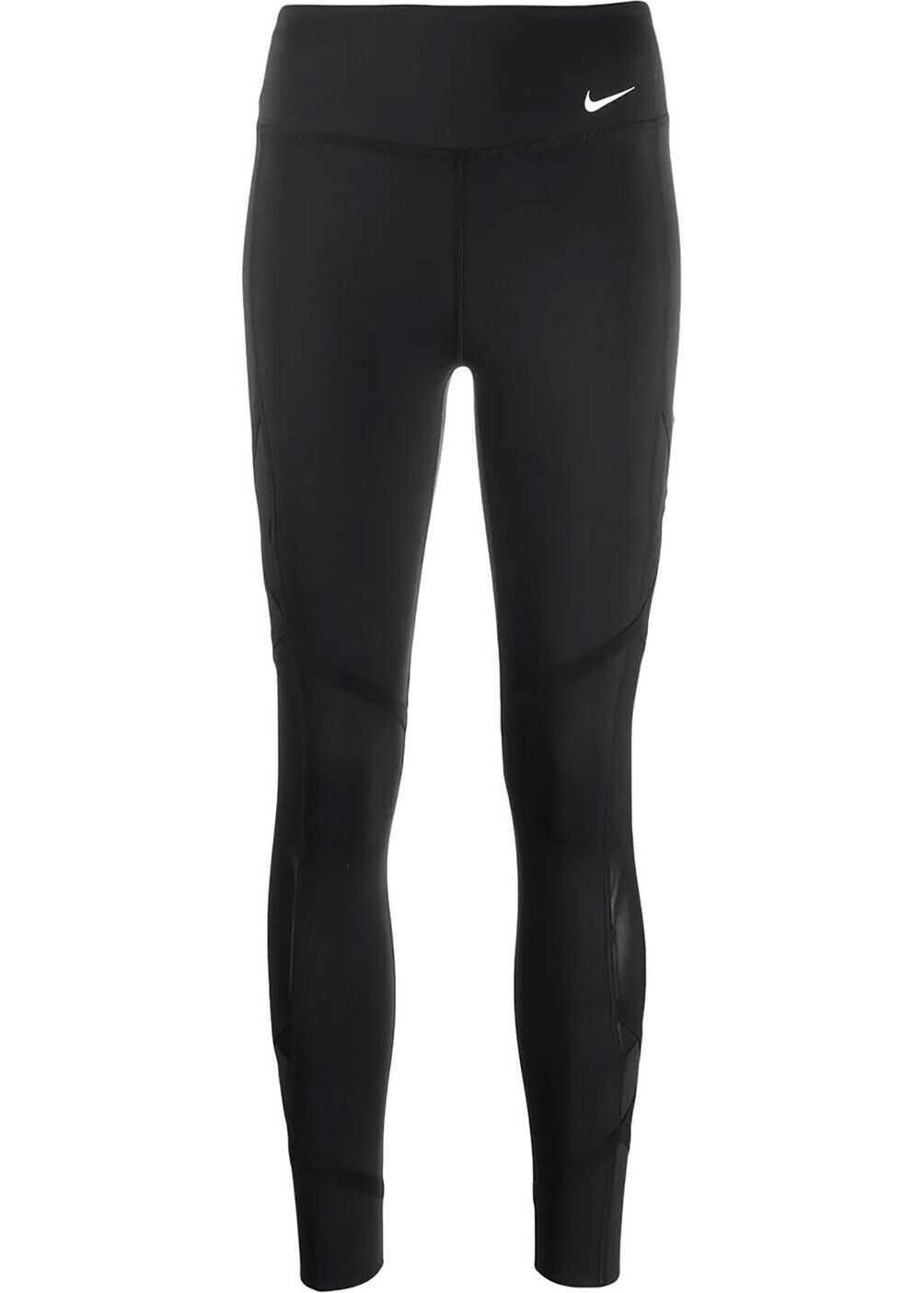 Nike Synthetic Fibers Leggings BLACK