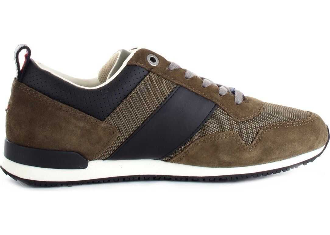 Tommy Hilfiger Cotton Sneakers BROWN