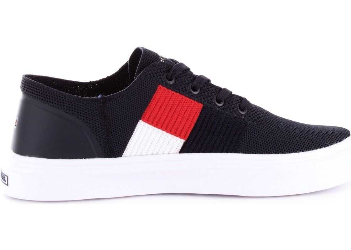 Tommy Hilfiger Leather Sneakers BLUE