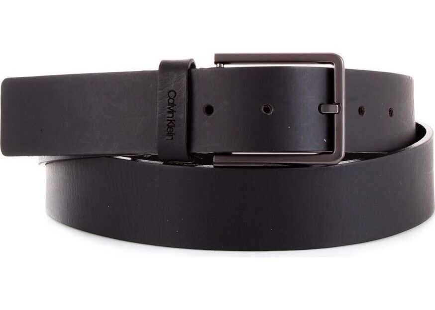 Calvin Klein Leather Belt BLACK