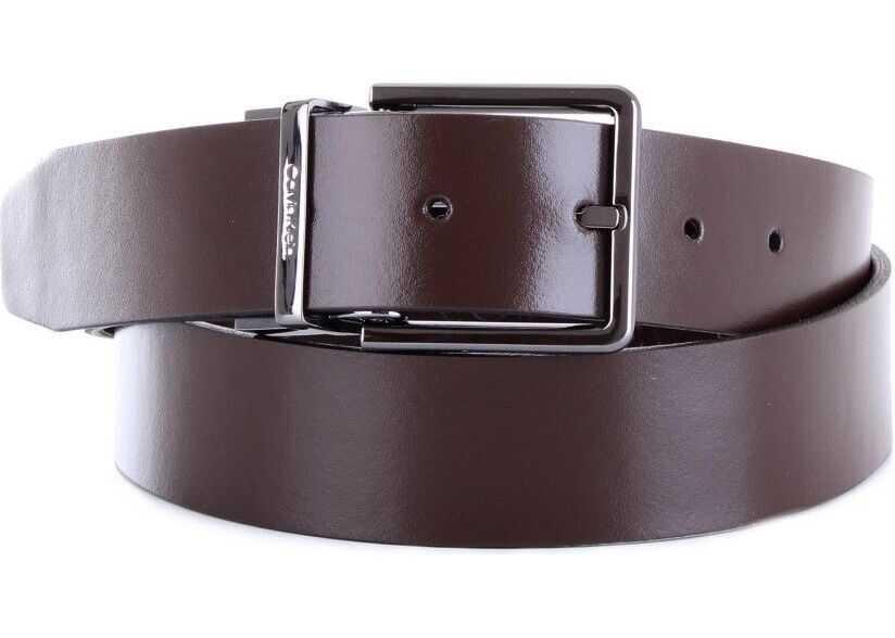 Calvin Klein Leather Belt BROWN
