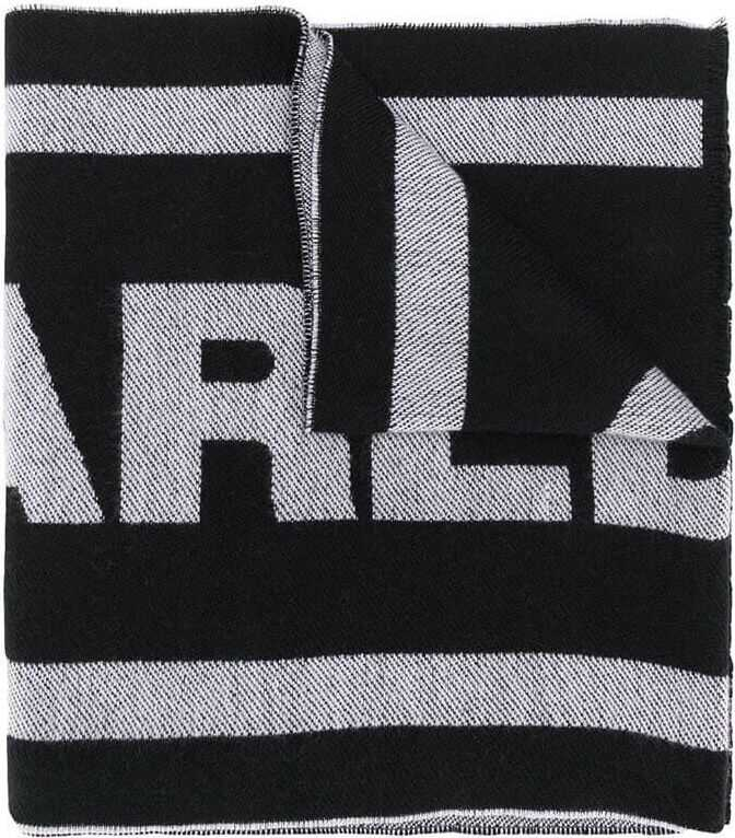 DSQUARED2 Wool Scarf BLACK