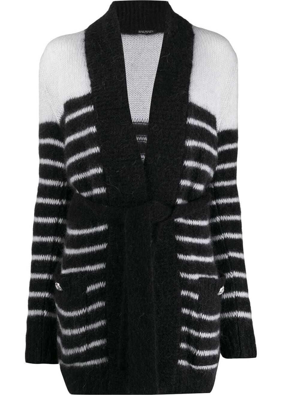 Balmain Wool Cardigan BLACK