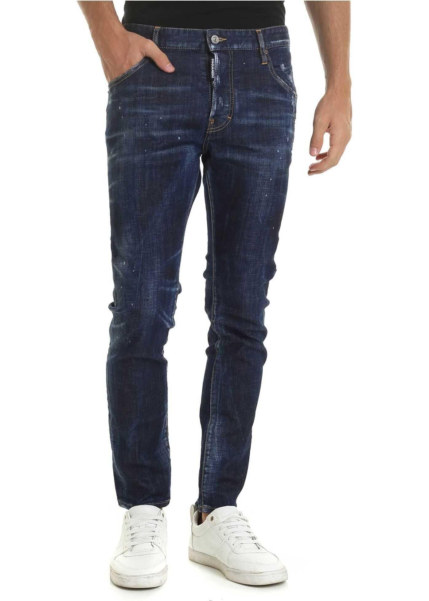 DSQUARED2 Skater Jeans In Blue Blue