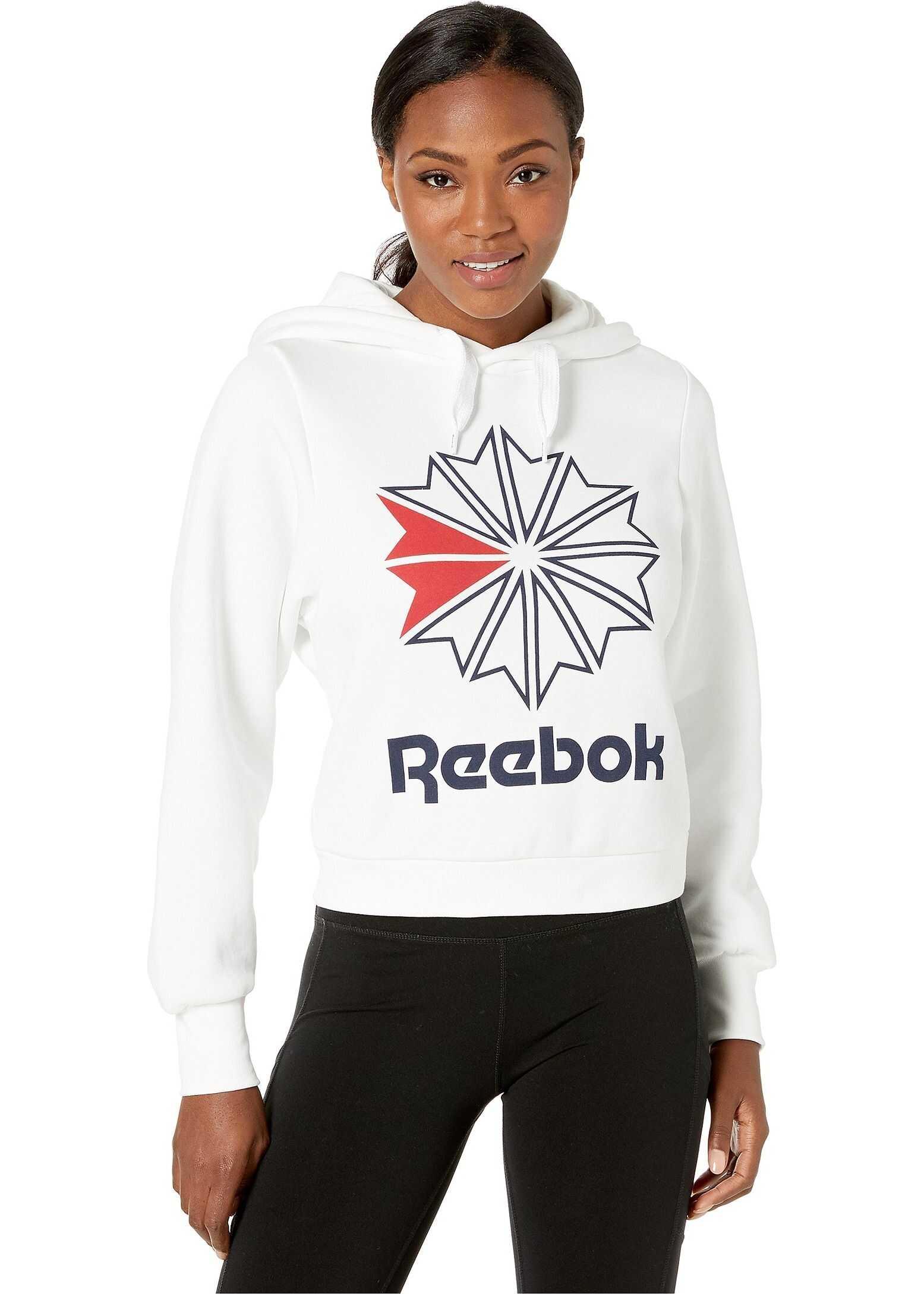 Reebok Classic Fleece Big Logo Hoodie White