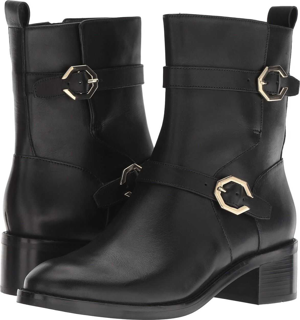 Cole Haan Leela Grand Moto Boot Black Leather