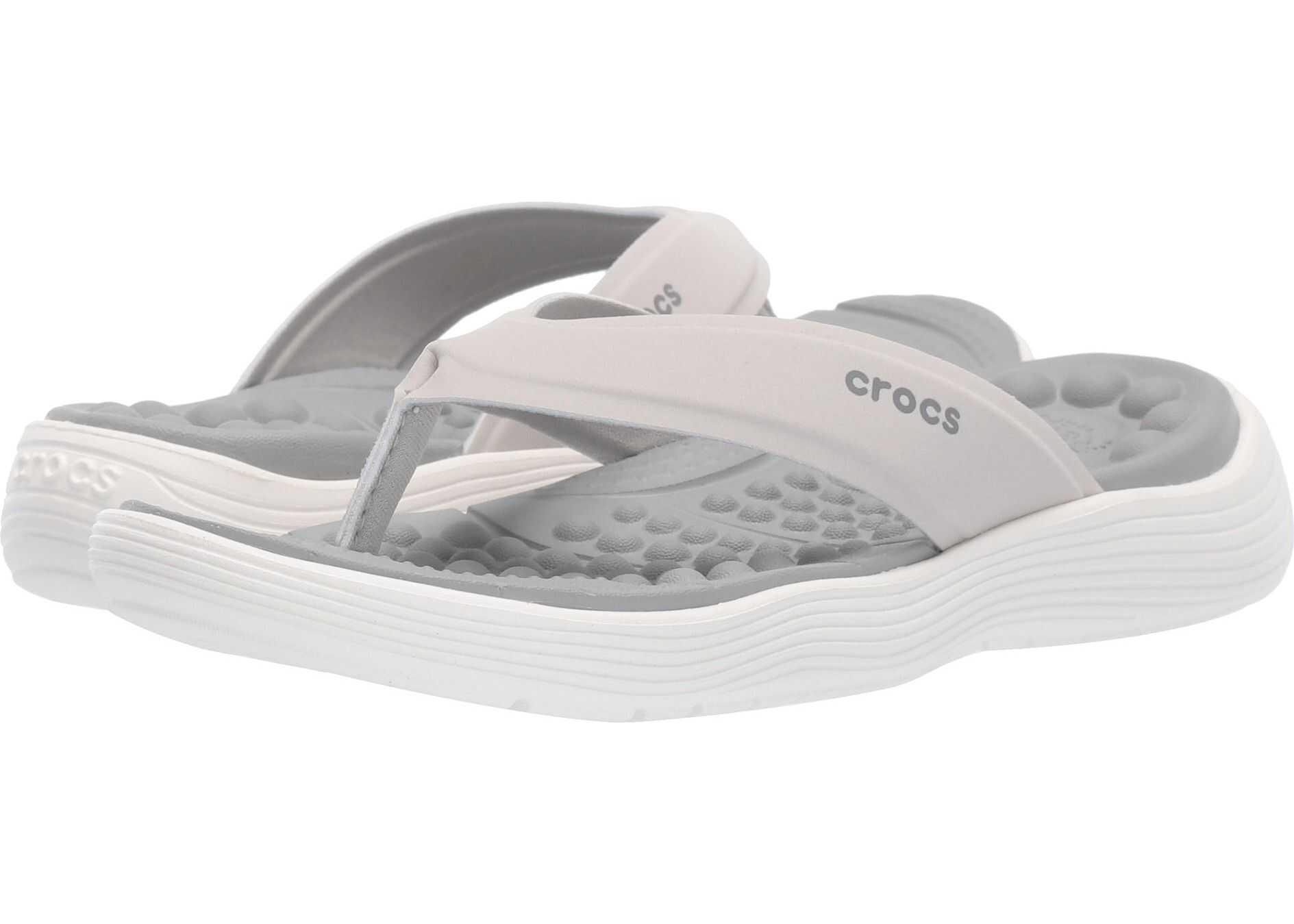 Crocs Reviva Flip Pearl White/Light Grey