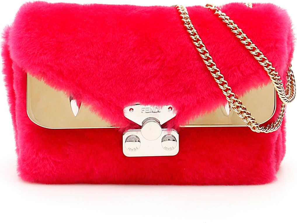Fendi Shearling Mini Bag FUCHSIA T MR