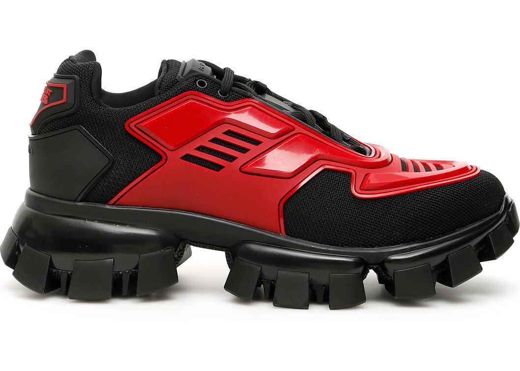 Prada Cloudbust Thunder Sneakers NERO SCARLATTO