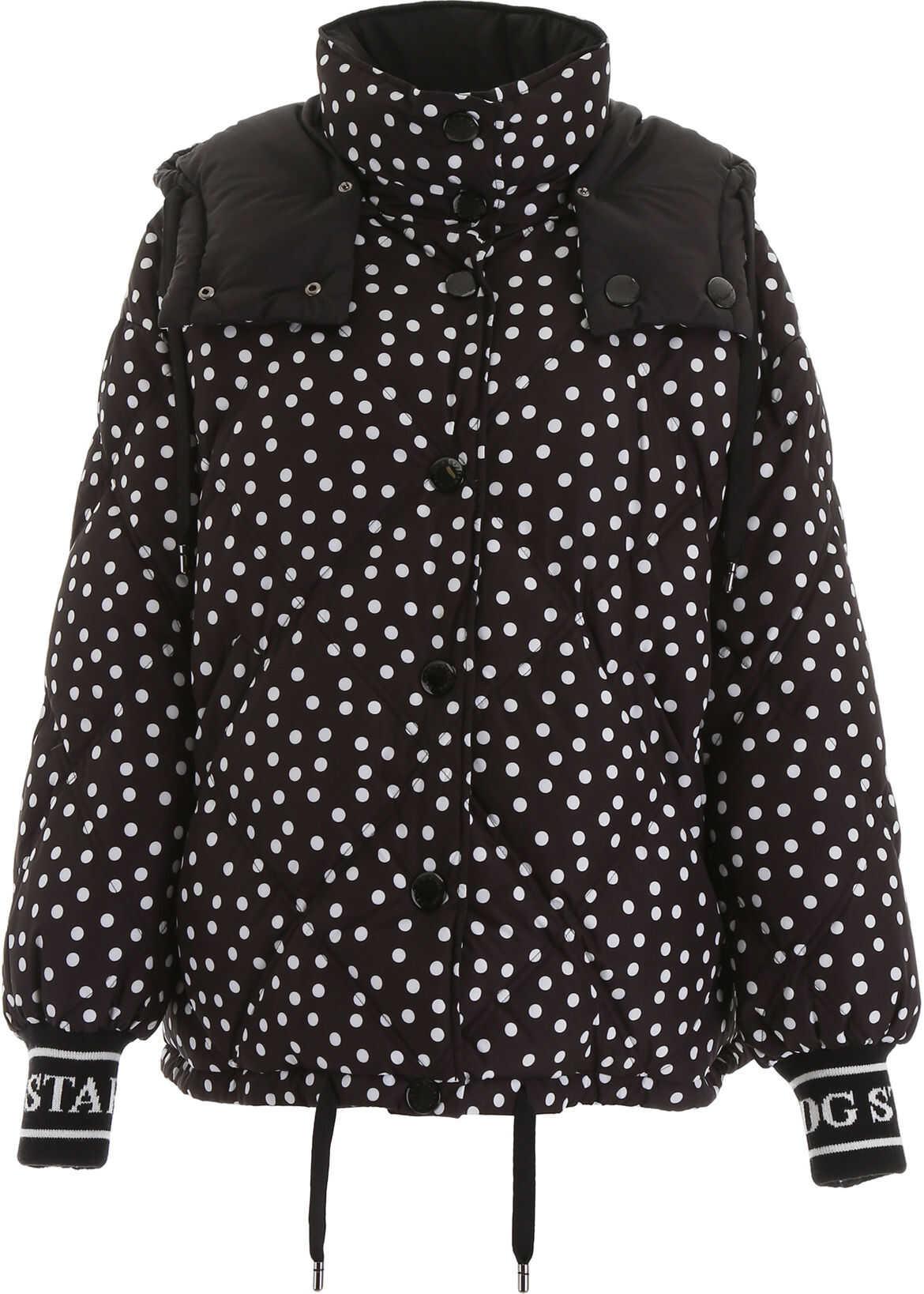 Dolce & Gabbana Polka Dots Puffer Jacket VARIANTE ABBINATA