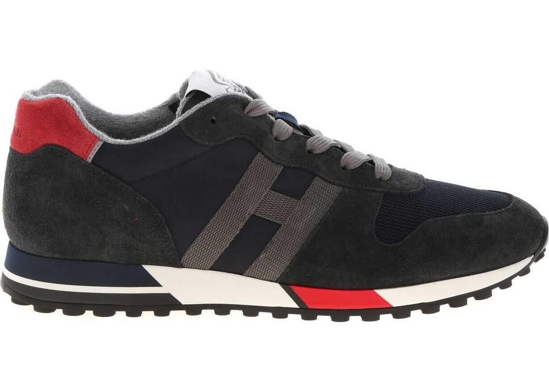 Hogan H383 Sneakers In Blue Blue