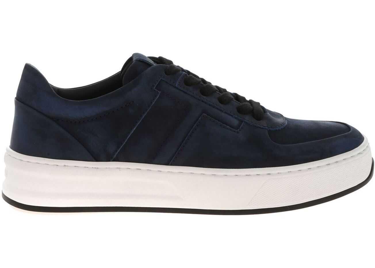 TOD'S Vintage-Effect Sneakers In Blue Blue