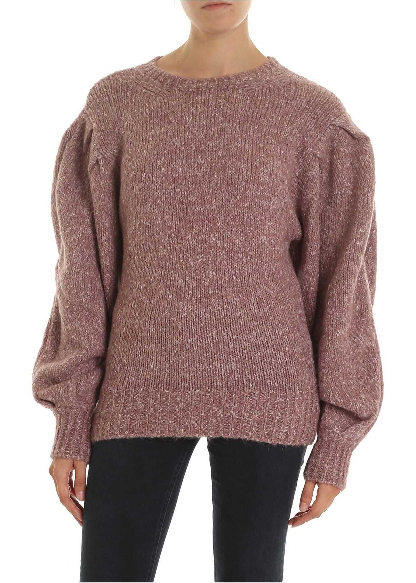 Isabel Marant Shaelyn Pullover In Melange Pink Pink
