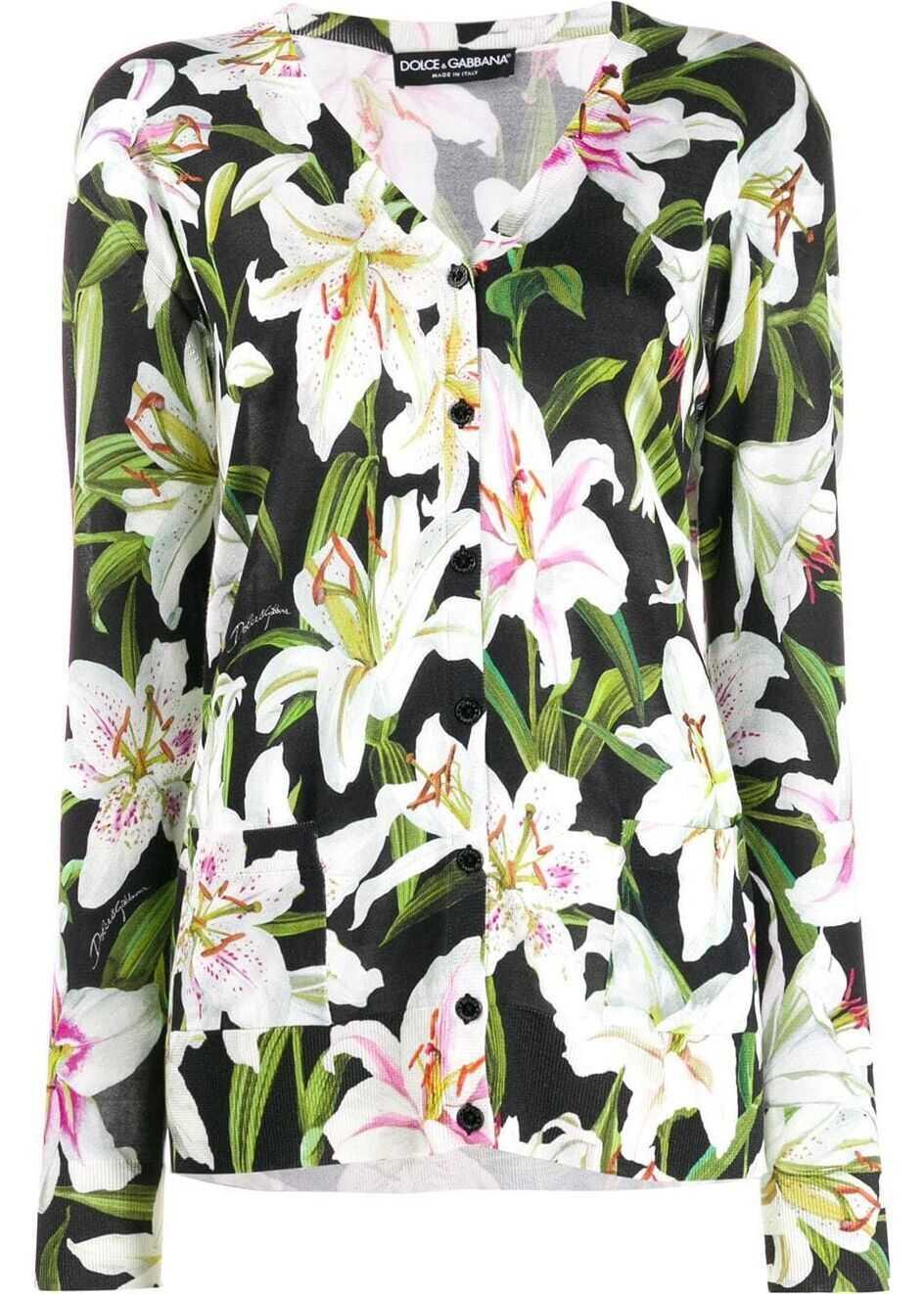 Dolce & Gabbana Silk Cardigan MULTICOLOR