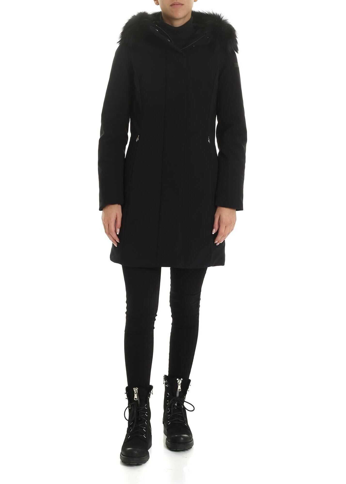 RRD Roberto Ricci Designs Winter Long Fur Down Jacket In Black Black