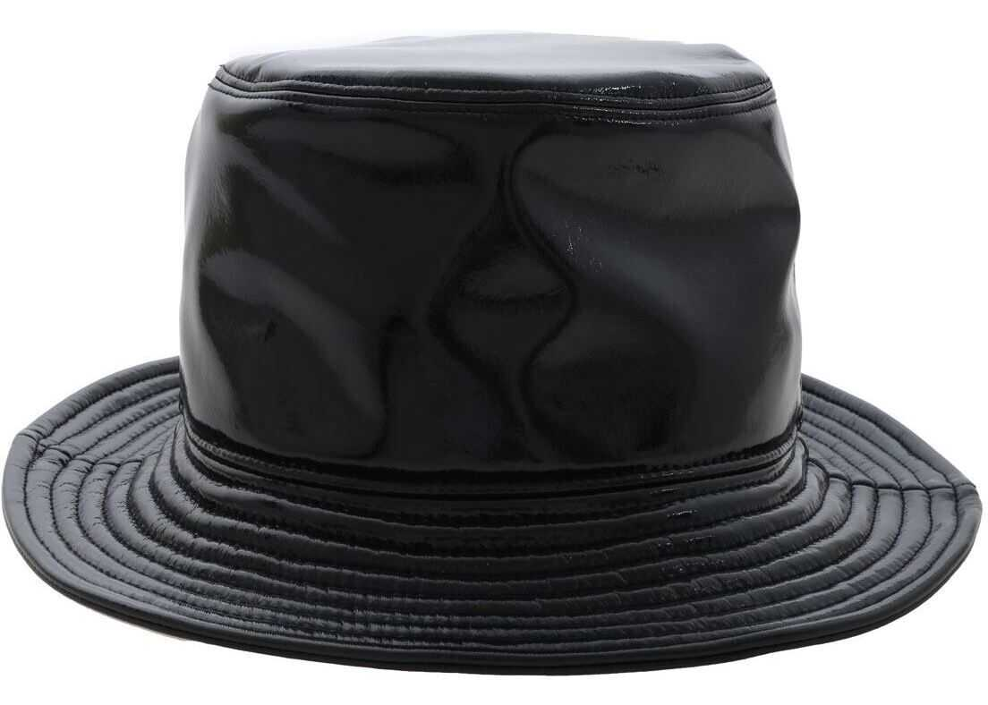 RRD Roberto Ricci Designs Blue Hat In Polish Effect Fabric Blue
