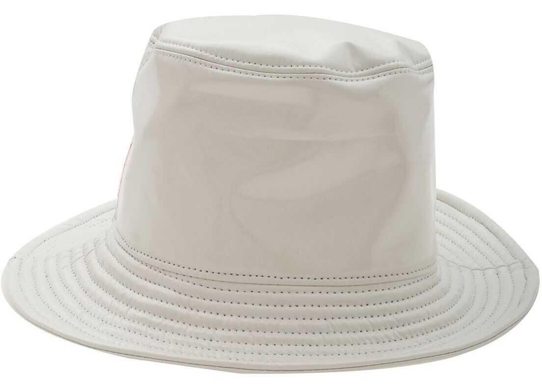 RRD Roberto Ricci Designs White Hat In Polish Effect Fabric White
