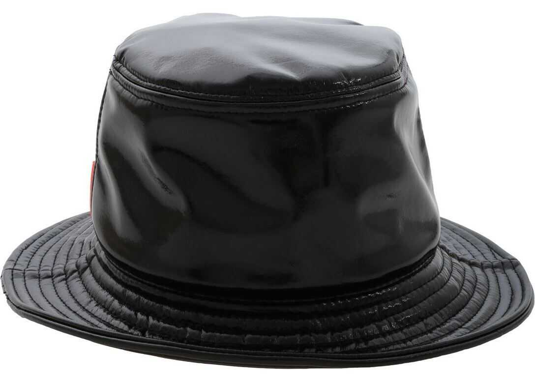 RRD Roberto Ricci Designs Black Hat In Polish Effect Fabric Black
