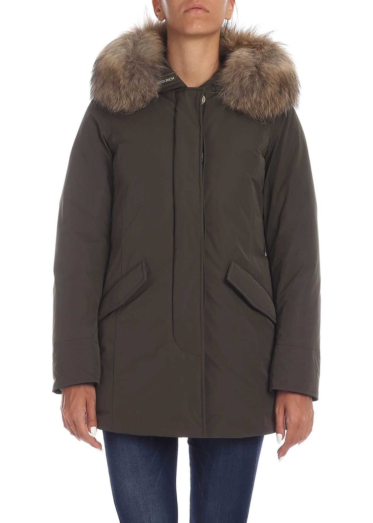Woolrich Arctic Luxury Parka Jacket In Army Green Green