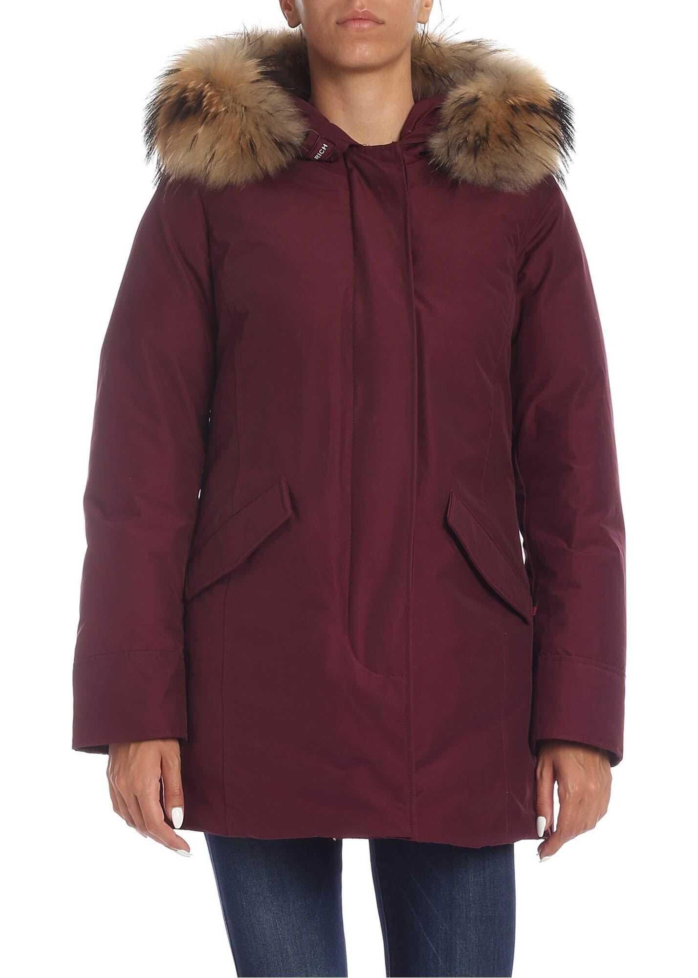 Woolrich Arctic Parka Jacket In Wine Color Purple