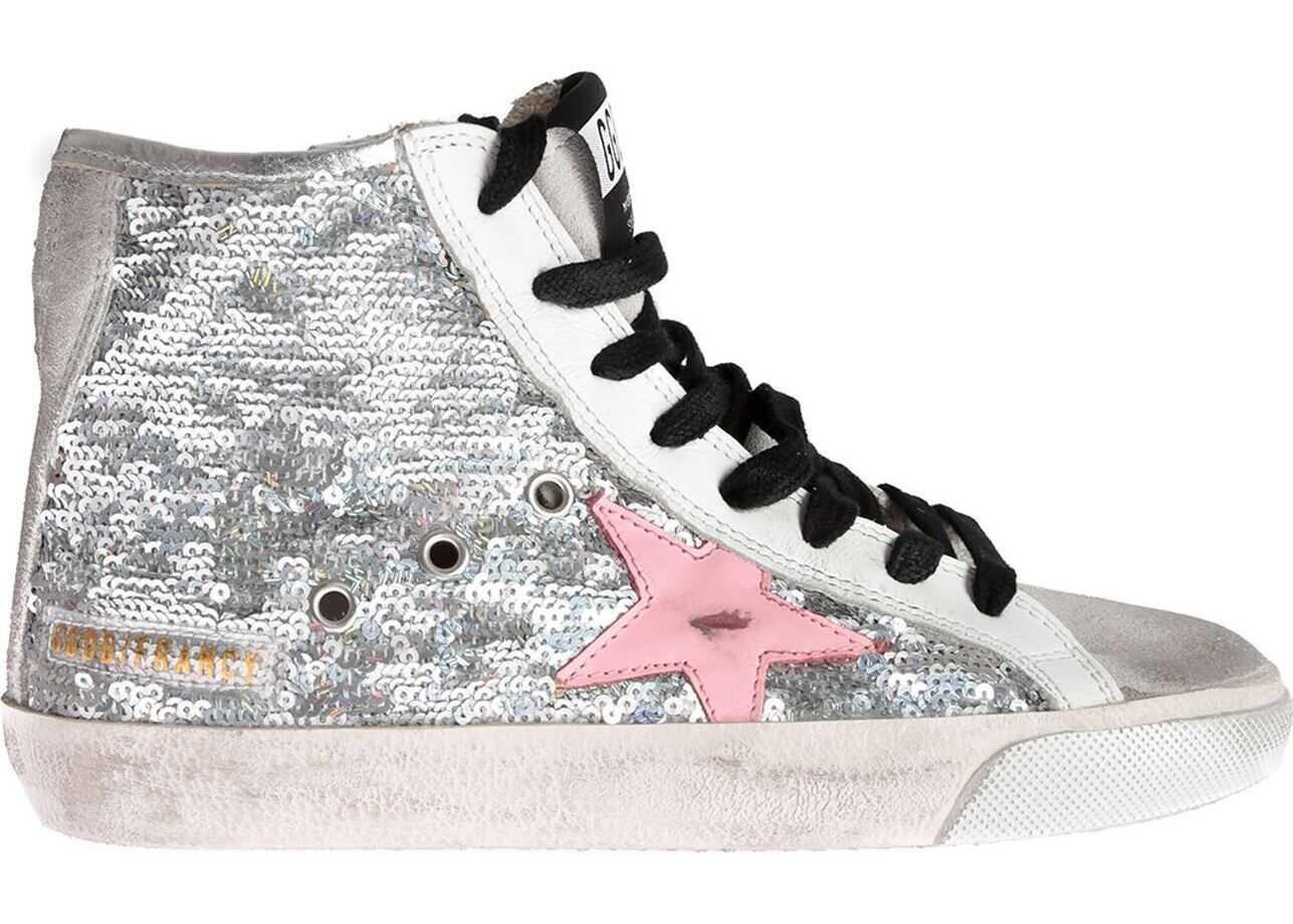 Golden Goose Sneakers Francy In Silver Sequins Silver