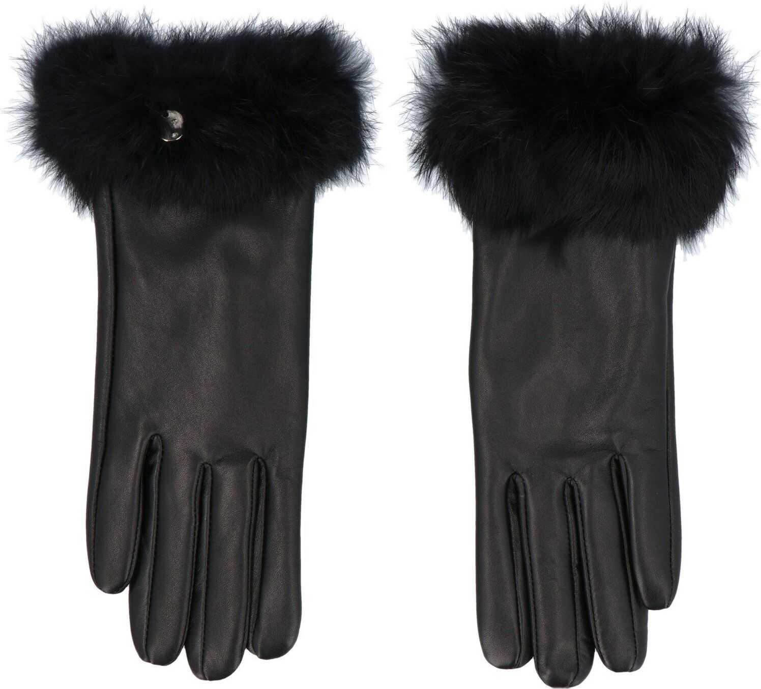 Liu Jo Leather Gloves BLACK
