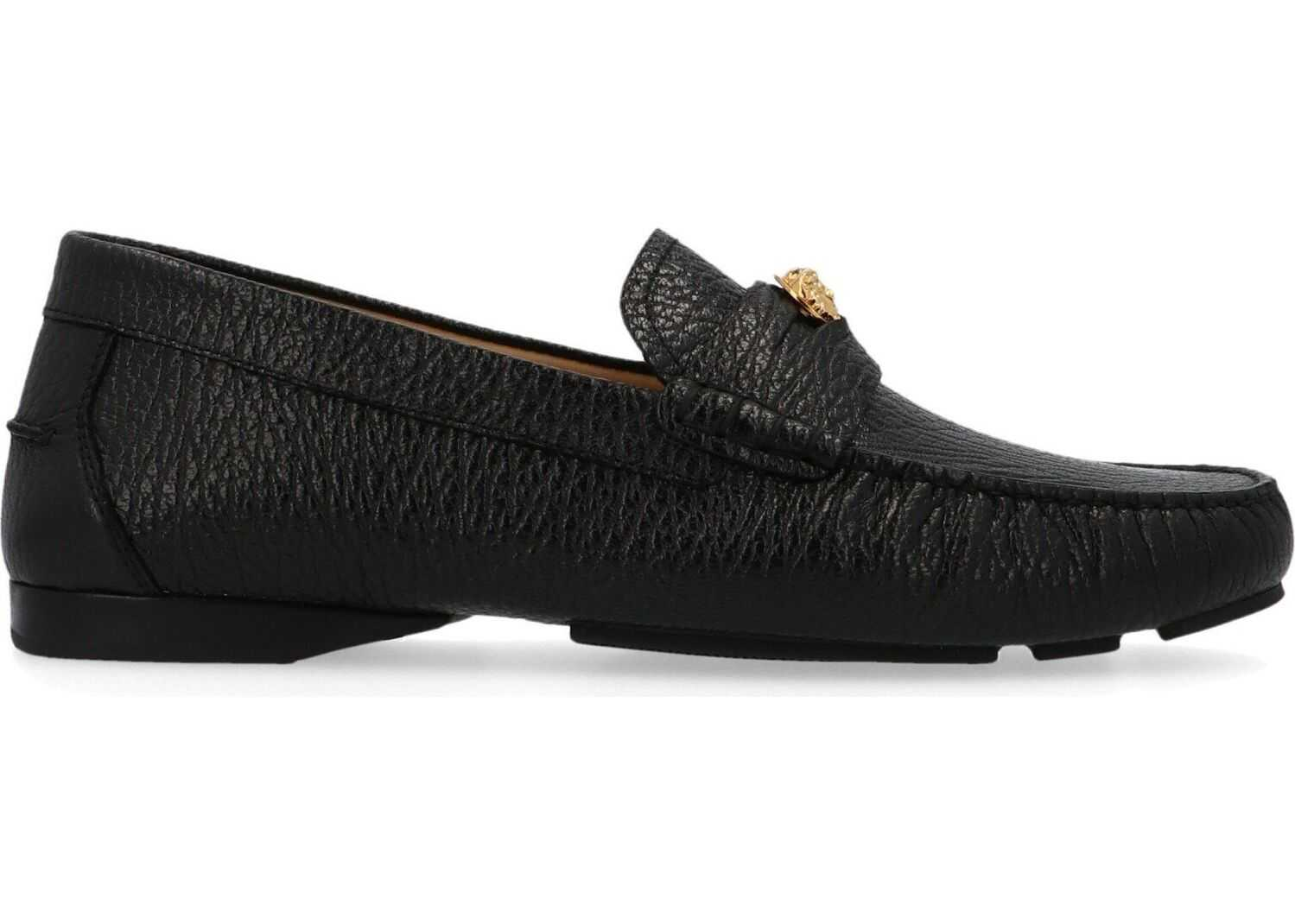 Versace Leather Loafers BLACK