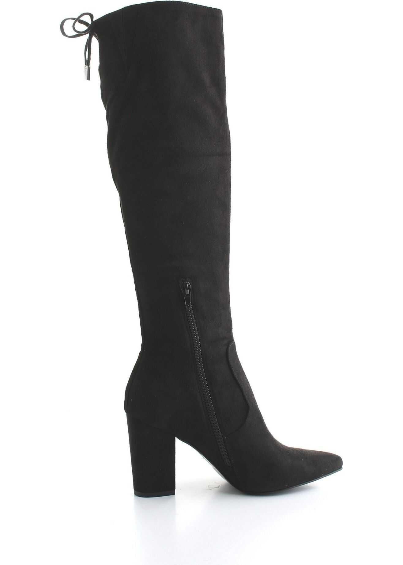 Steve Madden Leather Boots BLACK