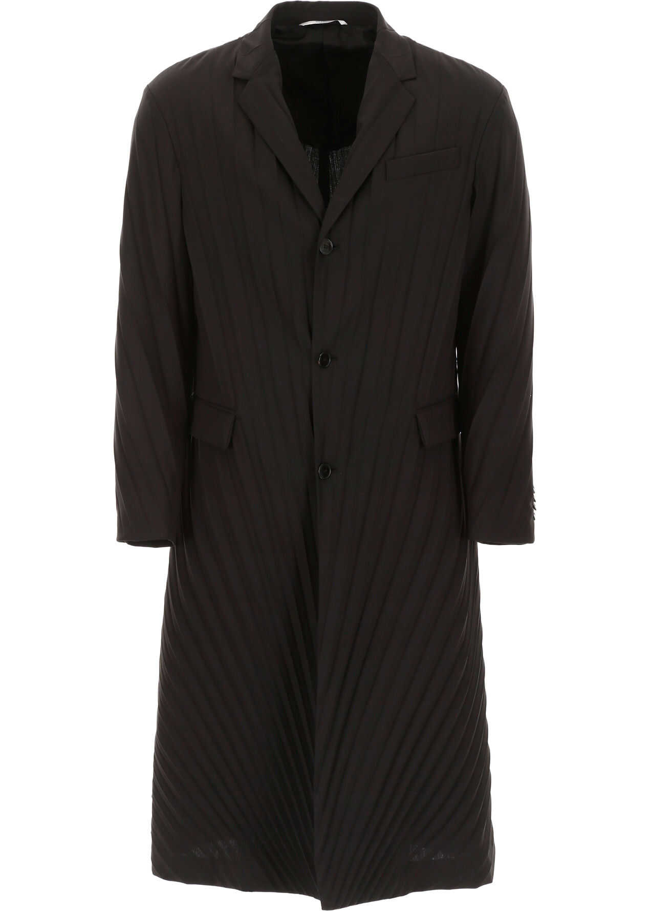 Valentino Garavani Pleated Coat NERO