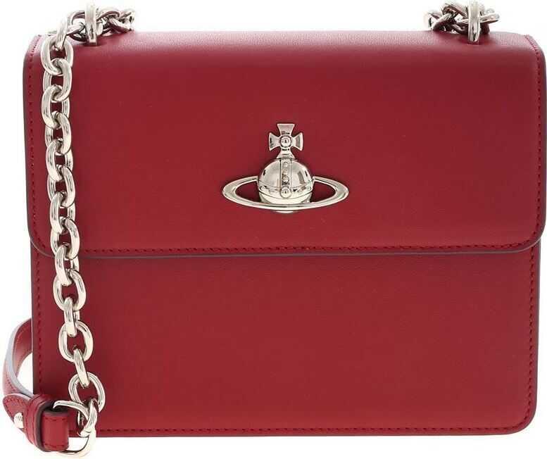 Genti tip postas Dama Vivienne Westwood Medium Florence Bag In Burgundy Color