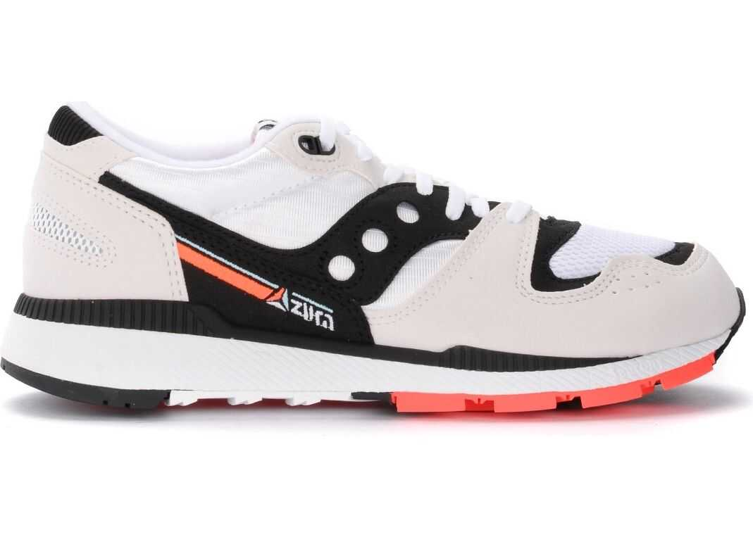 Saucony Azura Sneaker Made Of Microsuede With Black And White Mesh Inserts White