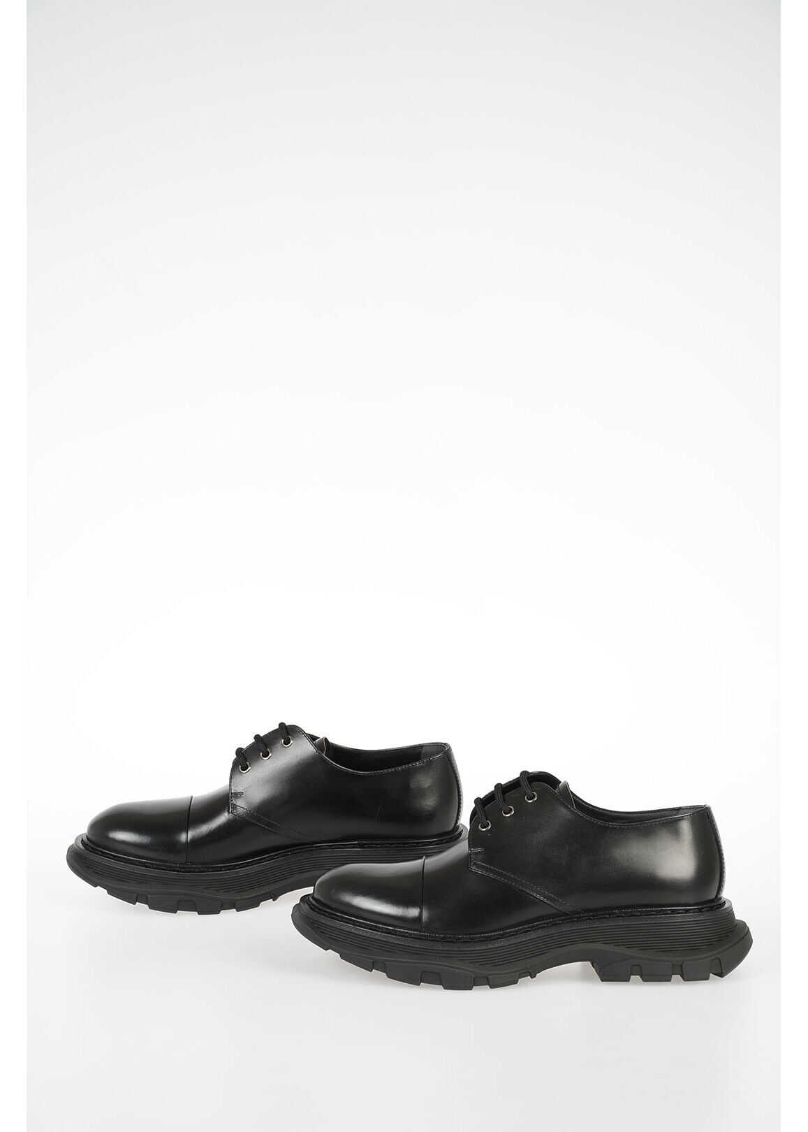 Alexander McQueen Leather Shoes BLACK