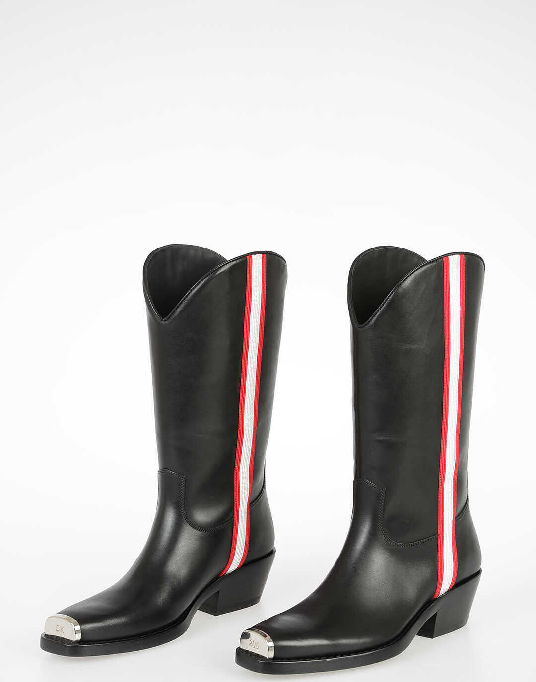 Calvin Klein 205W39NYC Leather Boots WESTERN BLACK